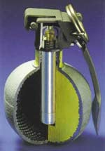 Fragmentation Hand Grenade HG 85 is a defensive hand grenade of 465g weight and has about 2000 fragments. RUAG operates and maintains an internationally approved quality system that fulfils the requirements of SN EN 29001 (ISO 9001), MIL-Q-9658 A.