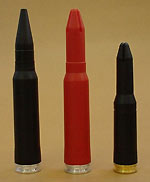25mm x 137 plastic blank ammunition and 30mm x 173 plastic dummy and plastic blank ammunition.